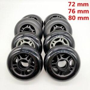 free shipping roller skates non-flashing wheel skate wheel 72 mm 76 mm 80 mm