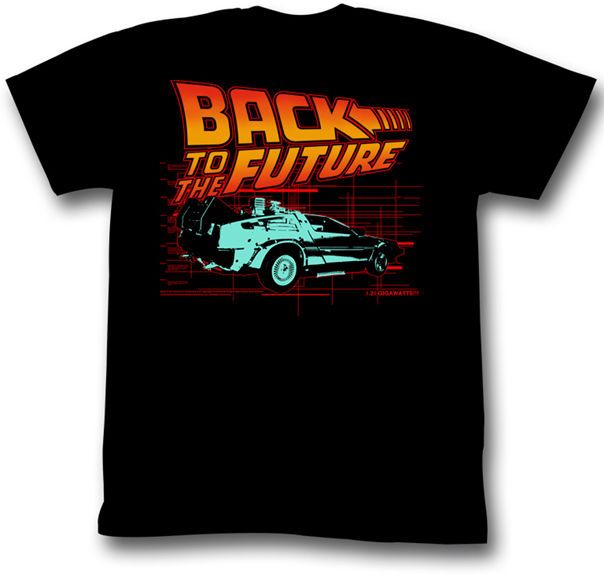 Back To The Future DeLorean 1.21 Gigawatts Adult T Shirt
