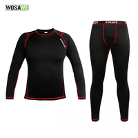 WOSAWE Men Compression Tights Cycling Base Layer Running Wear Fitness Workout Gym Clothes Long Johns Sports