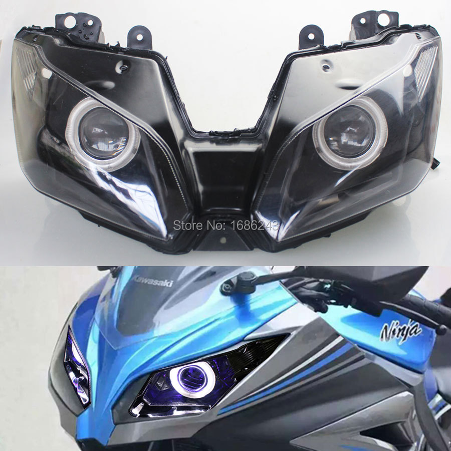 Hid 35w Projector Headlight Blue Angel Eyes Demon Eyes