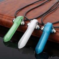 Dongsheng 1 Stücke Halskette Blau Naruto Tsunade Uzumaki Charme Halskette Anhänger Halskette Anime Cosplay für Frauen Männer Schmuck
