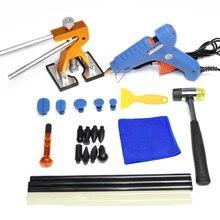 Ferramentas de PDR remoção Paintless dente azul pistola de cola martelo dent levantador de ouro kit de ferramentas de auto reparo do corpo