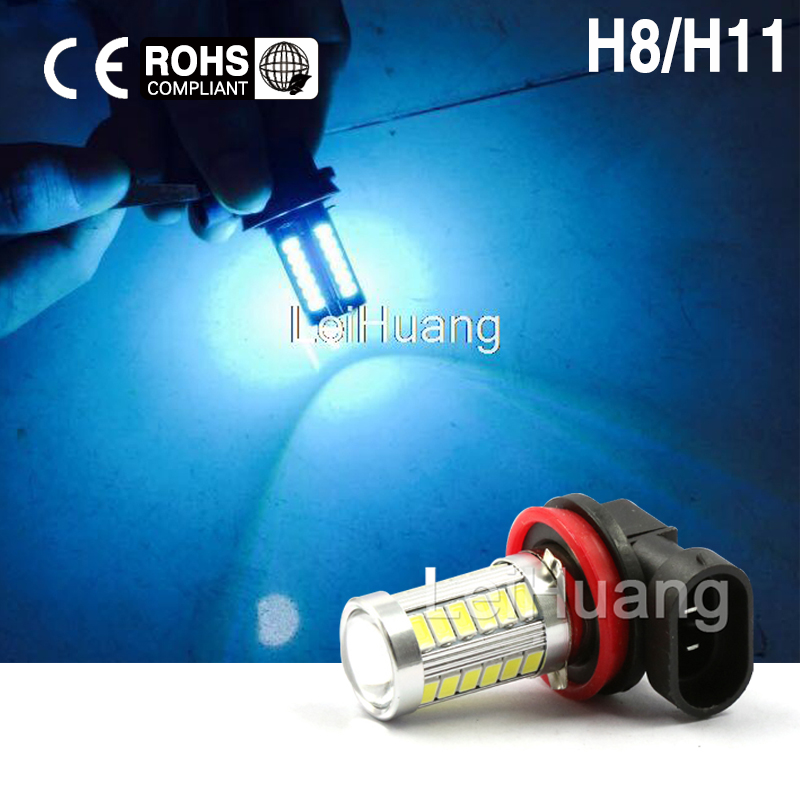 2X H11 H8 Led High Power 5730 33 LED led car Fog lamp ice blue