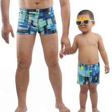 Father Son Family Swimming Trunks Kids Boy Men Printed Swimwear Shorts 2018 New Parent-child Swimsuit Swimming Trunks(China)
