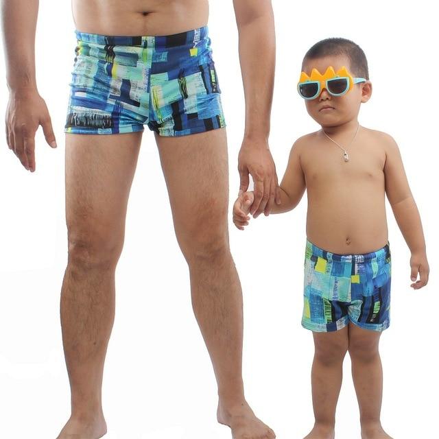 Zwembroek Man En Kind.Vader Zoon Familie Zwembroek Kids Jongen Mannen Gedrukt Badmode