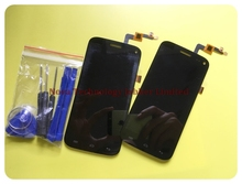 Novaphopat 100% Tested Black Digitizer for Micromax Canvas Turbo Mini A200 LCD Display Touch Screen Digitizer Sensor Assembly
