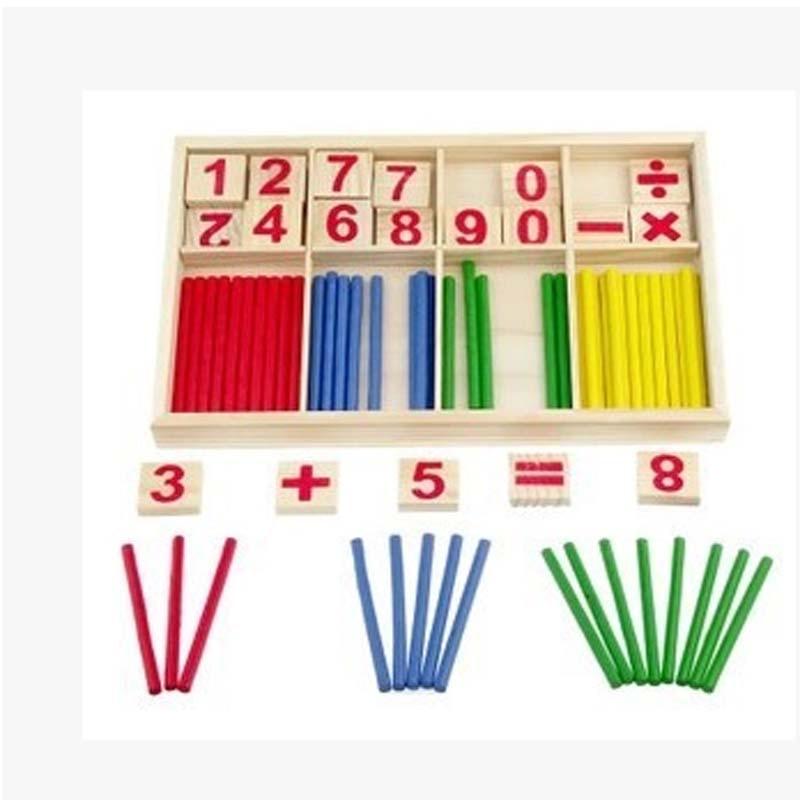 Belajar Pendidikan Matematika Tongkat mainan set Matematika Intelijen Tongkat Blok Bangunan Matematika Mainan Hadiah Game ...