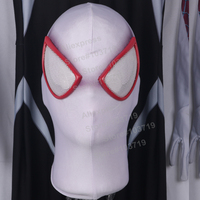 Hero Catcher High Quality Pink Lenses Gwen Spideman Mask Spandex Lycra Mask White Spiderman Cosplay Mask Gwen Spandex Face Mask