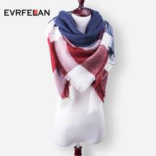 ZA 2016 Fashion Scarf For Women Scarf Warm Winter Scarves Luxury Brand Oversized Plaid Cashmere Shalws