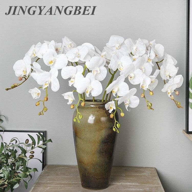 108 см 9 головок, латексная бабочка, Орхидея, искусственный цветок, свадебные цветы, искусственные цветы, украшение для дома, цветы для пола