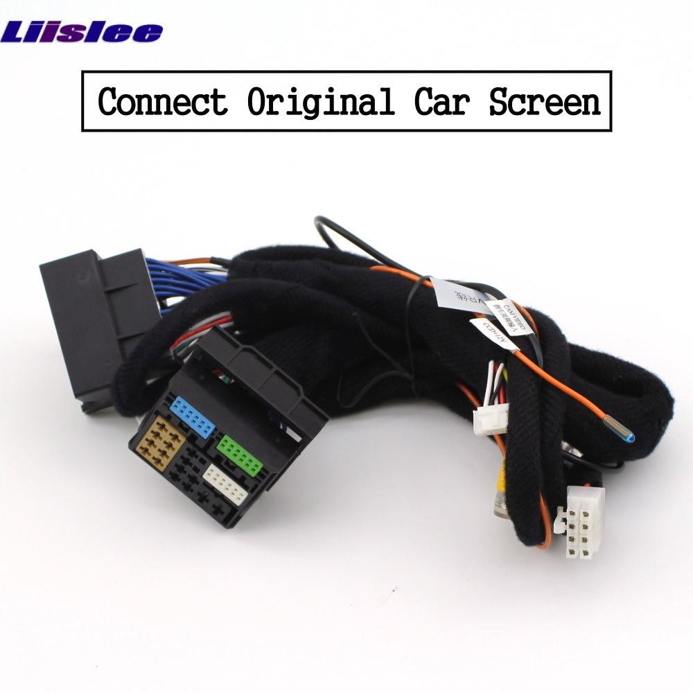 Liislee For Audi Q3 2010~2018 Front Rear View Reversing Camera Original screen upgrade Interface Adapter backup Camera Decoder 9