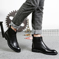 New Fashion Mens Soft Split Leather Chelsea Ankle Boots Man British Style Boots Shoes SMYLMX-F0047