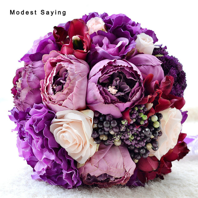 Pack with Box Romantic Lavender Artificial Flower Berry Wedding ...