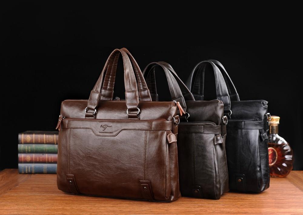 ZYJ Men\`s Business Leather Shoulder Laptop Briefcase Bags Sling Travel Messenger Portfolio Bag Causal Bolsa Lawer Handbag (29)