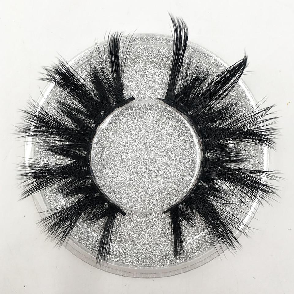 False Eyelashes 25mm Long Faux Mink Lashes Light Wight Soft Volume Full Eye Lashes Dramatic Fake Eyelashes Makeup CXP003