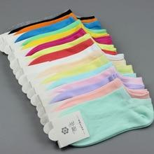 10 pairs/pack 2017 New Fashion Socks Female Slipper Candy Color Socks Cotton Cute Female Socks