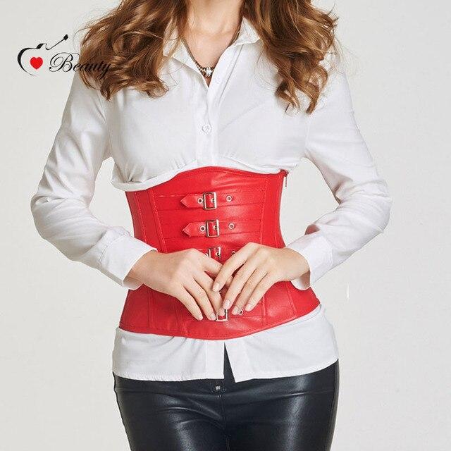 2016 Trainer Cintura Espartilhos e Bustiers Gothic Steampunk Corset Corpete Corselet Mulheres 12 Ossos Espartilho Plus Size Preto Vermelho
