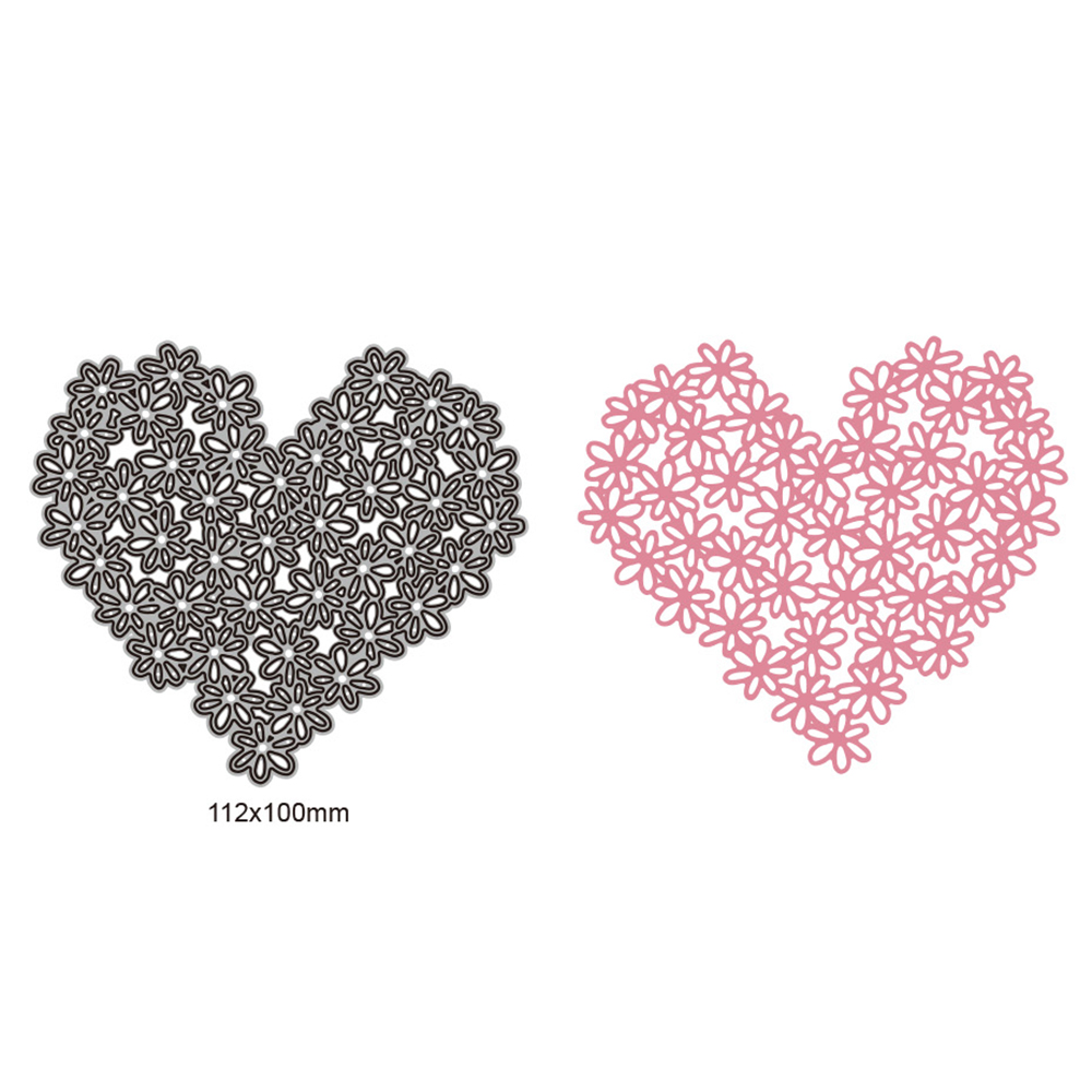 Heart Shape Flower Dies scrapbooking 112x100mm New Arrival Metal Cutting Dies Embossing Craft New Cutting Die Cut in Cutting Dies from Home Garden