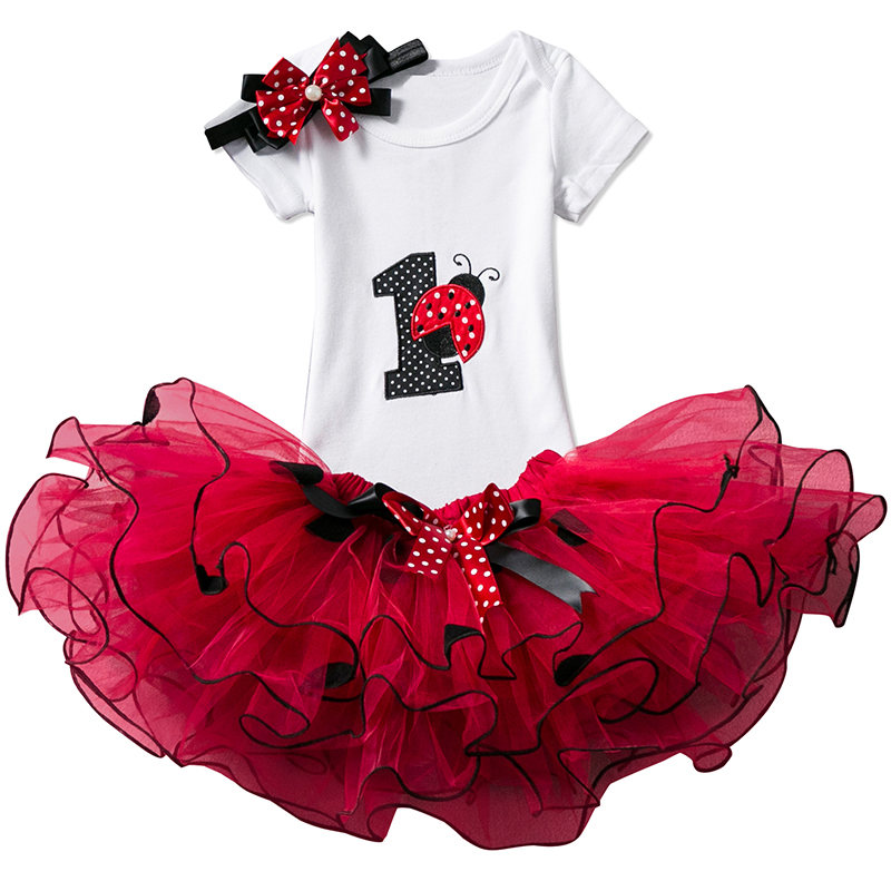 Birthday Party For 1-2 Year Baby Girl Clothes Dresses Infant Kids Summer Princess Tutu Dress Toddle Girl Cute Ball Gown Clothing