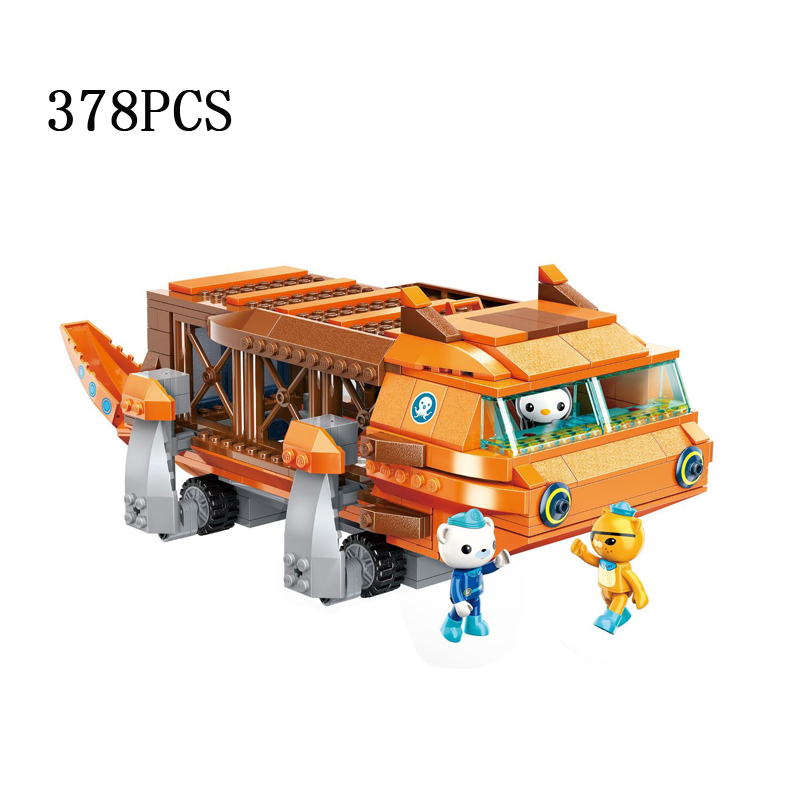 Hot cartoon scenes vehicle Octonaut bricks hellbender submarine building block dr.peter captain Barnacles Kwazii figures toys