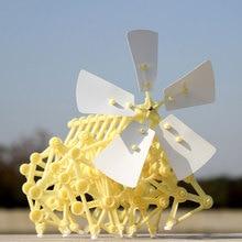 Ceative образование игрушечные лошадки для детей мини Strandbeest модель ветер мощность игрушки для животных блоки Монстр ветряная мельница науки