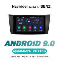 Navirider OS 9.0 Car Android Player For BENZ E CLASS W211 W463 W219 stereo radio gps navigation TDA7851 Amplifier sound System