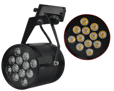 12W LED Track Rail Spot Light Shop Display Warm White 12 1W Store Gallery led track light50wled exhibition hall cob track light to shoot the light clothing store to shoot the light window