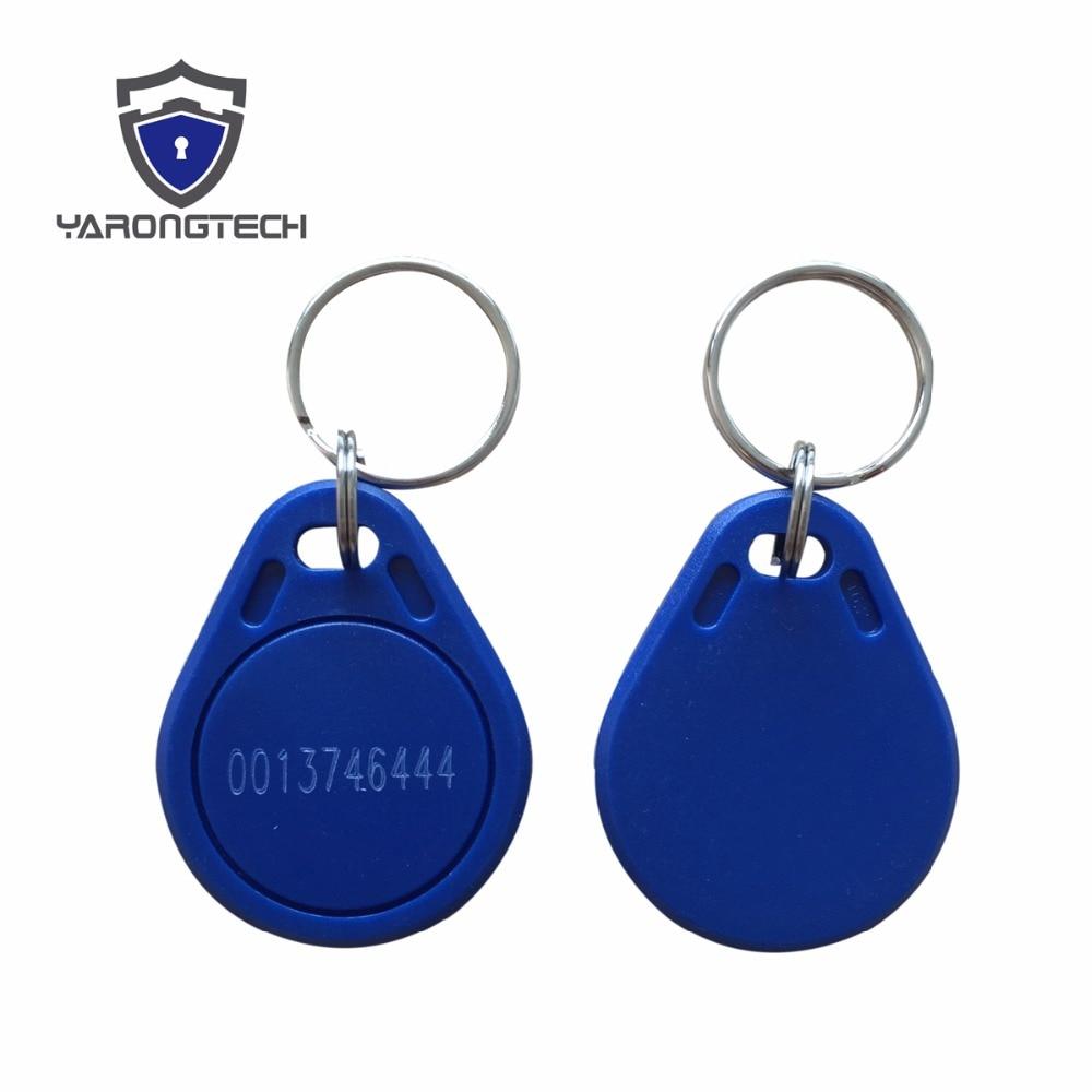 100pcs 125Khz TK4100 EM4100 Proximity ABS Waterproof Blue RFID Tag,rfid Key,rfid Keyfob For Access Control