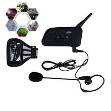 1200m occer Referee BT Intercom Interphone Headset Bluetooth Motorcycle Helmet Interphone Motocicleta Intercomunicador V6C