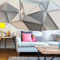 beibehang Custom Photo Wall Paper 3D Modern TV Background Living Room Bedroom Abstract Art Wall Mural Geometric Wall Covering