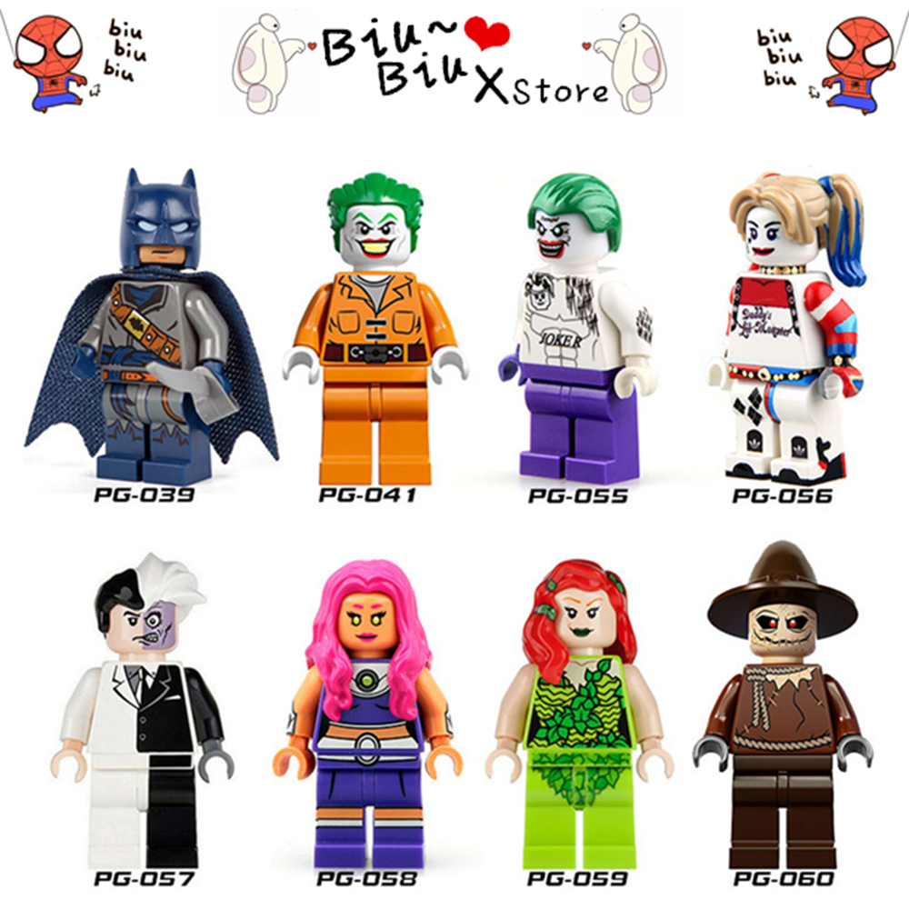 New style 8/Style Batman cosplay toys two-face man ugly girl Crazy clown Compatible LegoINGlys With Weapons Action Toy for child