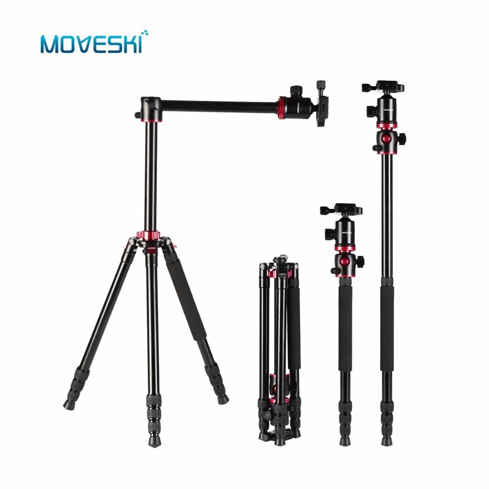 Moveski TM2534T Professional Aluminium Alloy Camera Tripod Ball Head 360 degree For DSLR SLR Camera