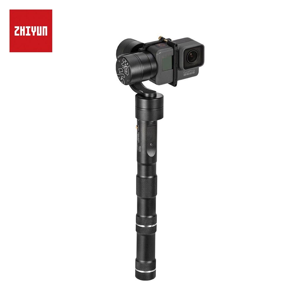 ZHIYUN Oficial Evolução 3-Eixo Cardan Handheld Estabilizador para a Câmera Ação Gopro3/3 +/4/Yi cam 4 K/AEE/SJCAM Sports Camera/EKEN