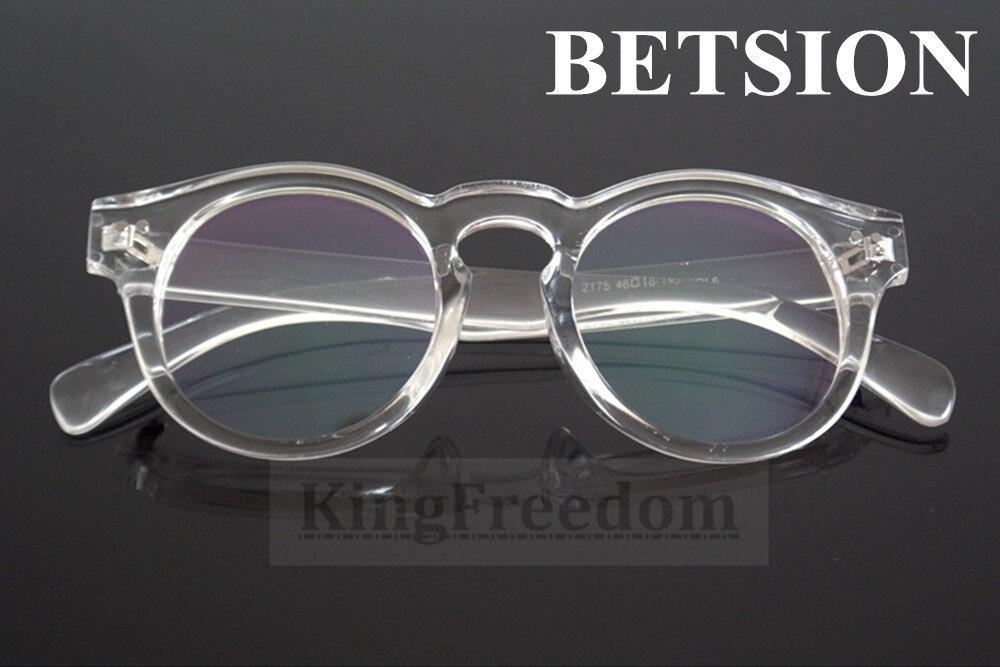 158914e70 BETSION خمر شفاف واضح عدسة النظارات إطارات النظارات الرجعية النظارات Rx  قادرة