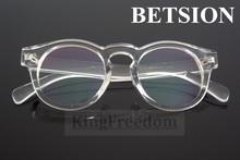 BETSION Vintage Transparent clear Eyeglass Frames Spectacles Retro Glasses Rx able