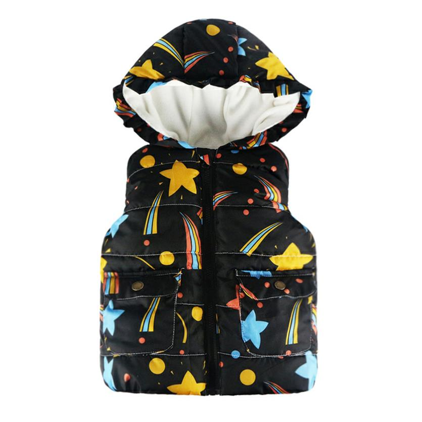 26672757fd8e8 2018 Boys Vest Hooded Jacket New Autumn Winter Cartoon Printed Waistcoat  for Kids Vests Baby Outerwear&Coats