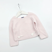 High Quality Princess Girls Pink Knitting Sweaters Clothing Cute Girl Baby Clothing Pullover Knitting T-shirt