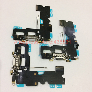 Image 5 - For iPhone 7 Original New Charging Port USB Charger Dock Connector with Microphone Antenna Flex Cable Replacement Parts
