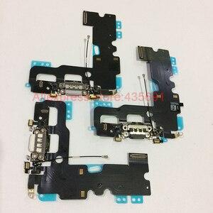 Image 5 - قطع غيار كابل مرن لهوائي الميكروفون لهاتف iPhone 7 أصلي وجديد لشحن منفذ USB وشاحن مزود بكابل مرن