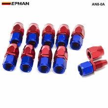10 шт./лот универсальные AN8 прямые масло/Топливный Шланг Концевой Алюминий фитинг/8-масляный радиатор шланг подходит AN8-0A AN8-0A