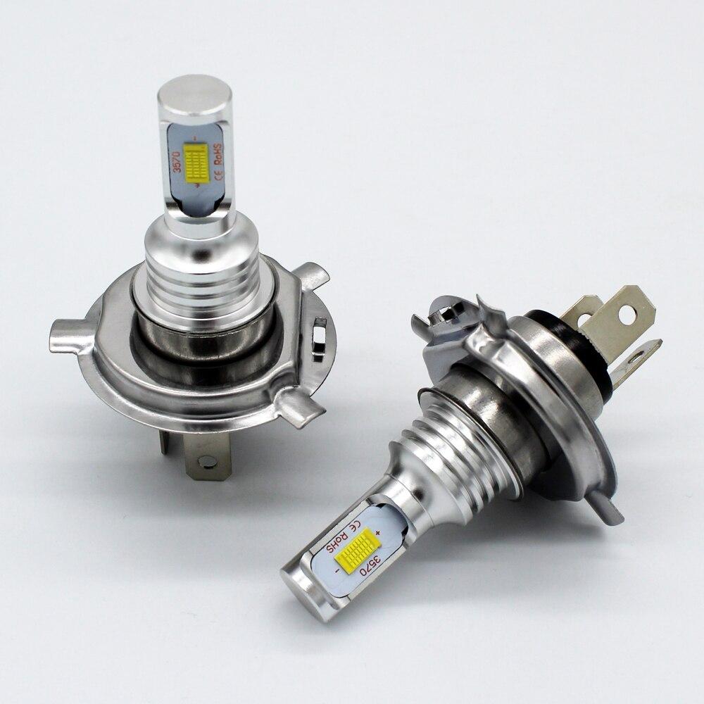 2x High Power White LED headlamp bulbs 6000K 72W H4 9006 H11 LED Headlight DRL Driving Daytime Running Light ,LED Fog lights H4