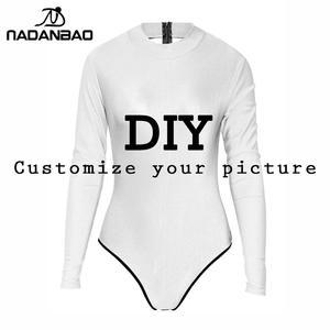 NADANBAO DIY stroje kąpielowe dostosuj 3d drukowane jednoczęściowe stroje kąpielowe damskie seksowne stroje kąpielowe garnitury