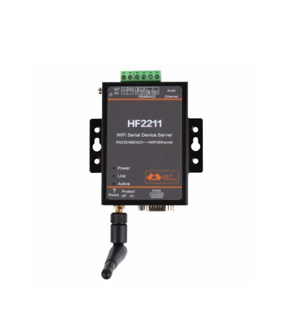 HF2211 Module de convertisseur série vers WiFi RS232/RS485/RS422 vers WiFi/Ethernet pour la Transmission de données d'automatisation industrielle