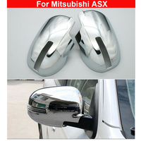 1 Pair Auto Chrome ABS Rear View Side Mirror Cover Trim For Mitsubishi ASX 2016