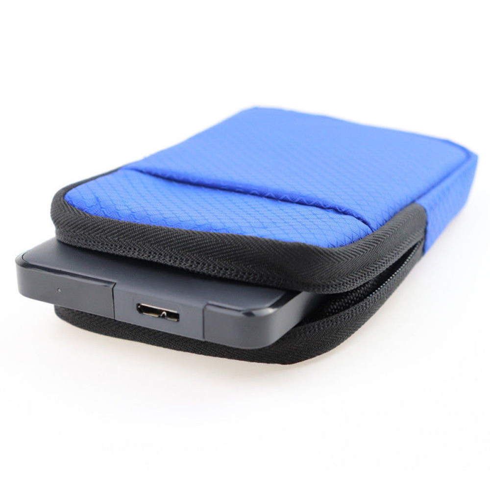 Universal 2.5'' Super EVA Shockproof Water/Dust/Scratch Proof External Hard Drive Carrying Case Mobile Phone Pouch Bag Protector