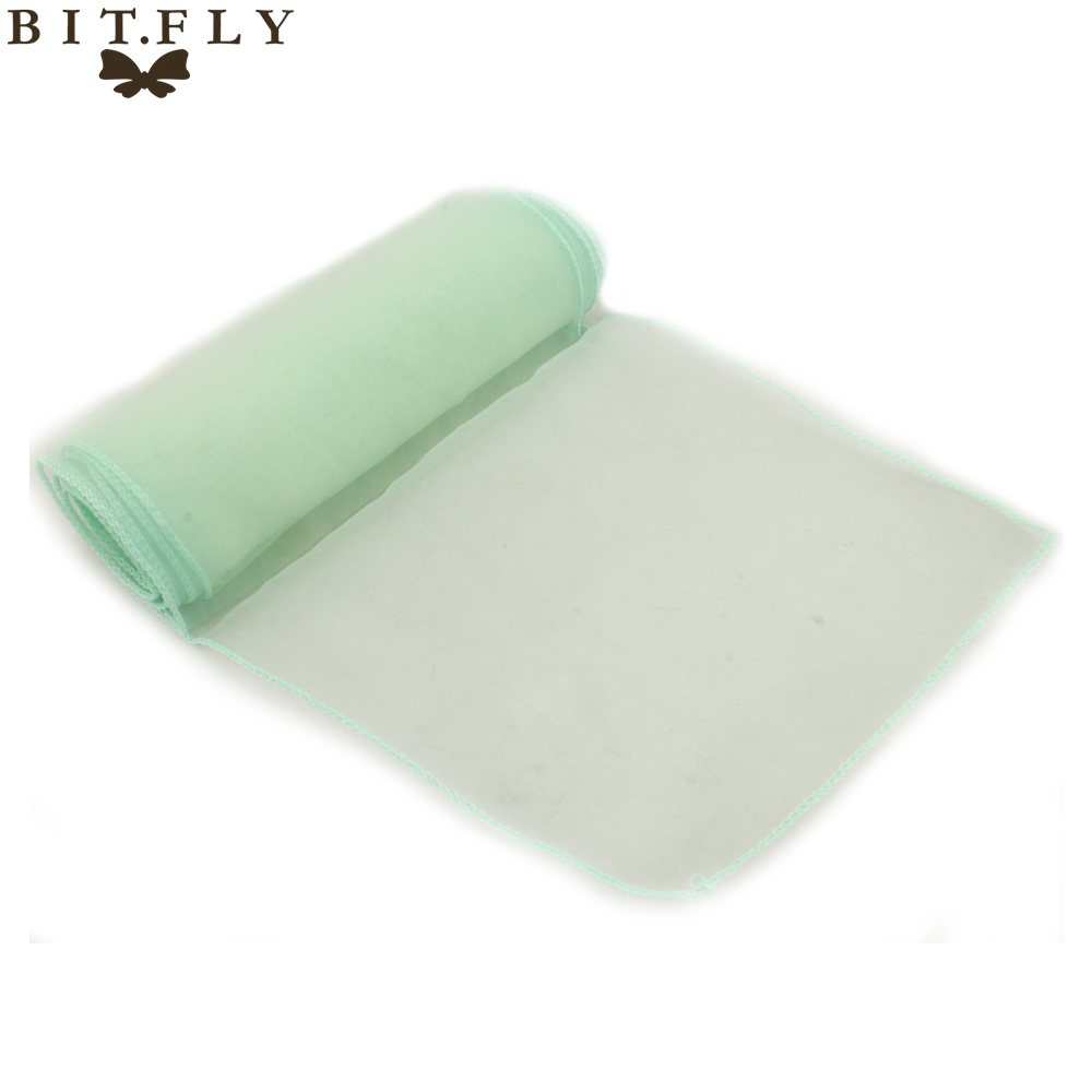 mint chair sashes flip beds new brand 50 pcs green wedding organza cover sash party banquet decor bow ...