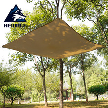 Outdoor Camping Awning Tent 195*195cm Waterproof Sunscreen Ultra-light Rain Fly Tarp Sun Shelter Beach Mat Tent Shade Sunshade