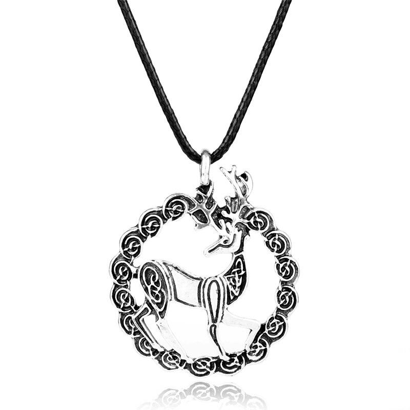 MQCHUN wholesale Accessories Deer Neklace Jewelry Outlander Scottish Kilt Deer Pendant Choker Necklace Women Men Jewelry Gift-30