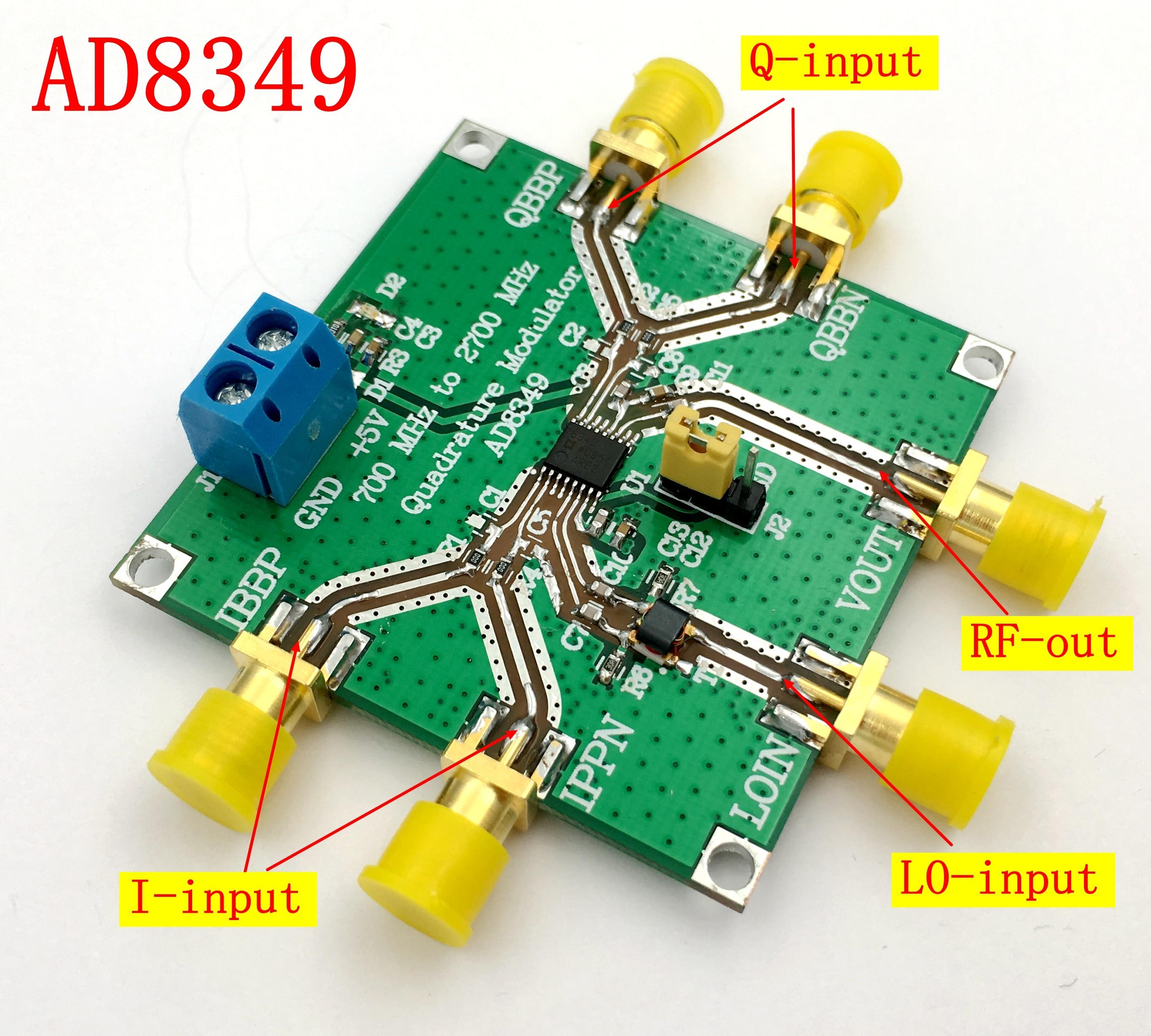 AD8349 Quadrature Modulation Module 700 MHz to 2.7 GHz I Q Modem Series ModuleAD8349 Quadrature Modulation Module 700 MHz to 2.7 GHz I Q Modem Series Module