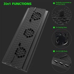 Image 2 - Için microsoft xbox One X Konsolu X one X Oyun Konsolu Soğutma Fanı dikey stant 3 USB 2.0 Portlu Soğutucu